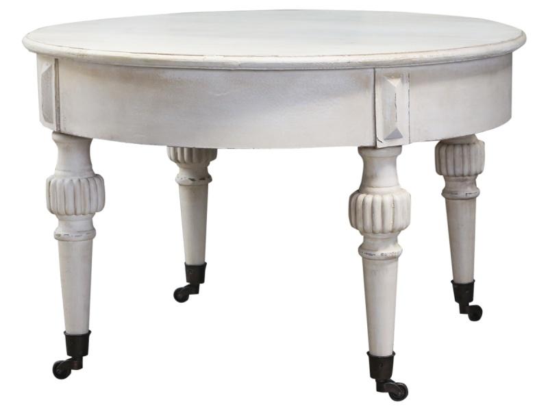 Sofabord med hjul hvit Chic Antiqe